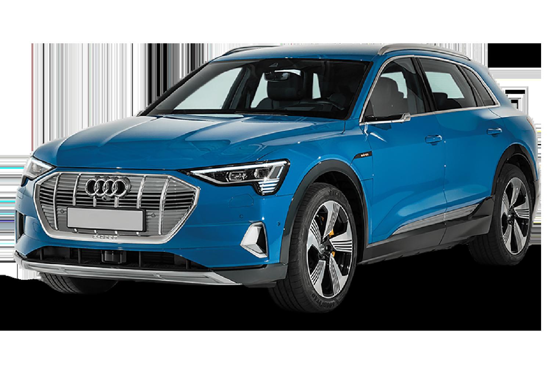 Frontansicht Audi e-tron in blau