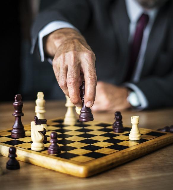 Schachspiel - Fokus beim Gewerbeleasing
