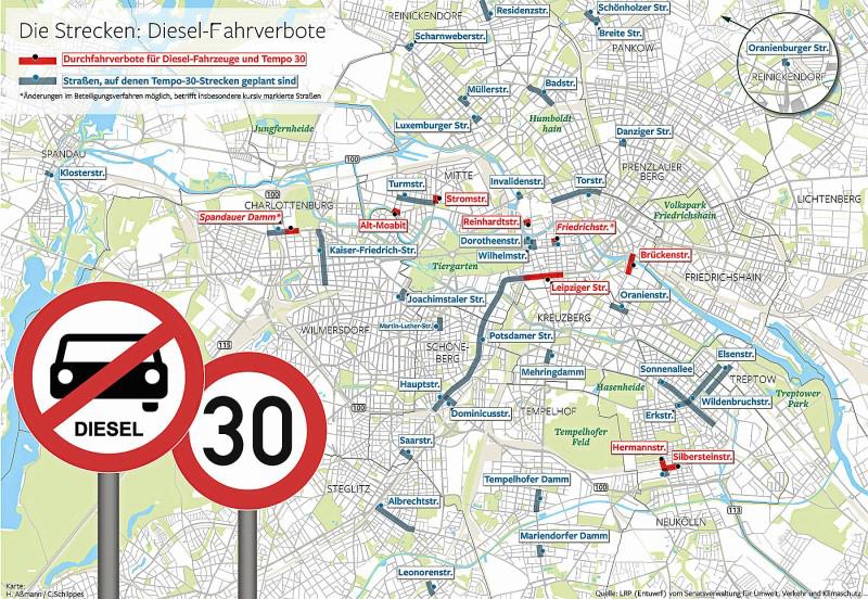 Dieselfahrverbot Berlin - ab 01. Juli 2019