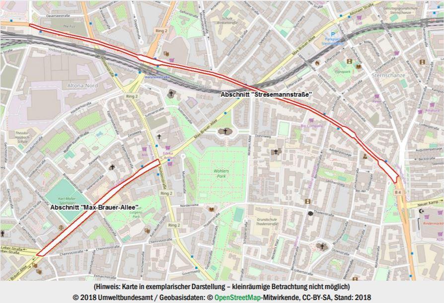 Dieselfahrverbot Hamburg - zwei Straßen betroffen